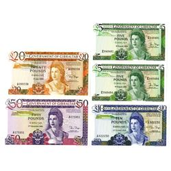 Government of Gibraltar Group of Issued Banknotes, 1986-1988