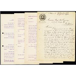 Banque Nationale de Greece, 1899/1900 Historic ABNC Banknote Order Correspondence