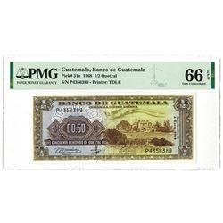 Banco De Guatemala, 1968 Issued Banknote.