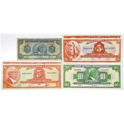 Republic of Haiti Group of Issued Banknotes, 1919