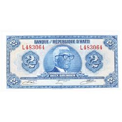 """Republic of Haiti, 1973 """"Tyvek Polymer Paper"""" Issued Banknote"""