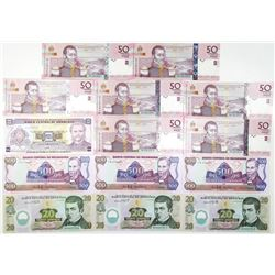 Honduras, Haiti, and Nicaragua, 1985-2006 Lot of 14 Issued South American Banknotes.