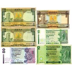 Chartered Bank and Standard Chartered Bank, 1975-1993, Group of Issued Notes