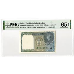 Government of India. 1940. Issued Banknote.