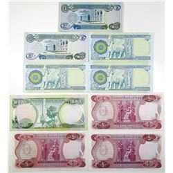 Central Bank of Iraq, 1980-2013, Group of Issued Banknotes