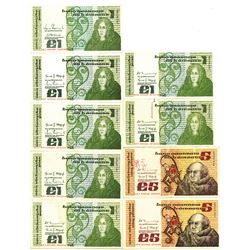 Central Bank of Ireland, 1979-1981 Group of Issued Banknotes