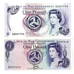 Isle of Man Government, 1979-1983 , Pair of Issued Banknotes