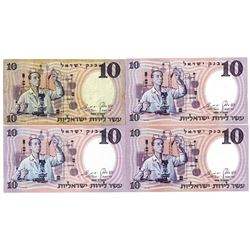 Bank of Israel, 1958-60 / 5718-20 Set of 10 Lirot Banknotes