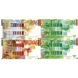 Bank of Israel, 2002-2008 Group of Issued Banknotes