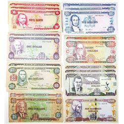 Large Group of Bank of Jamaica Issued Banknotes, 1986-2017