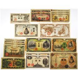 Large Group of Japan Issued Banknotes