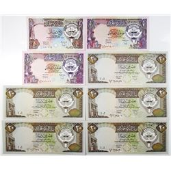 Central Bank of Kuwait Law #32 of 1968, Second ND Issued Banknotes