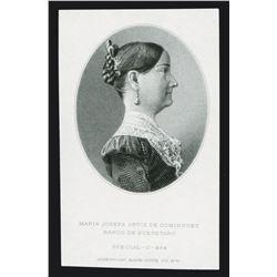 Banco De Queretaro, 1903-1914 Issue Proof Portrait of Dominguez.