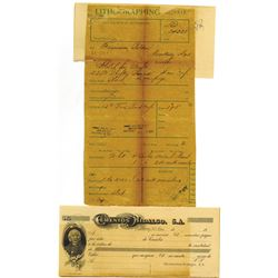Cementos Hidalgo, S.A., 1906 Proof Check and Order Form