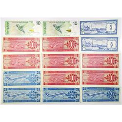 Netherlands Antilles, Group of 15 Issued Notes, 1970-2014.