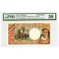 Institut d'Emission d'Outre-Mer. ND (1969) Specimen Banknote.