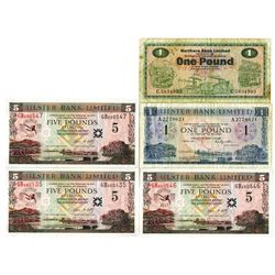 Group of Northern Ireland Issued Banknotes, 1973-2006