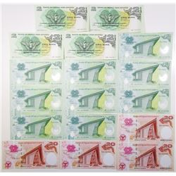Bank of Papua New Guinea, 1975-2014, Assortment of Issued Banknotes