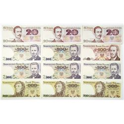 Polish Peoples Republic, Lot of Issued Banknote.