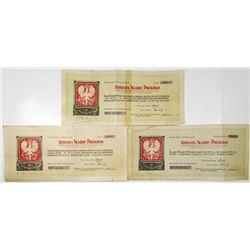 Asygnata Skarbu Polskiego - Assignee of the Polish Treasury, 1918 Banknote Trio