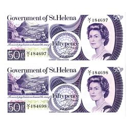 Government of St. Helena, 1979, Pair of Consecutive Banknotes