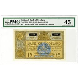 Bank of Scotland. 1961-1965. Issued Banknote.