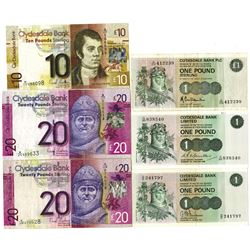 Group of Scotland Issued Banknotes, 1971-2009