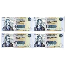 Clydesdale Bank PLC, 1996 Group of Robert Burns Commemorative Banknotes