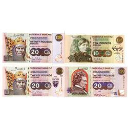 Clydesdale Bank PLC Quartet of Issued Banknotes, 1999-2006