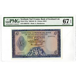 National Commercial Bank of Scotland Ltd. 1963-1966. Issued Banknote.