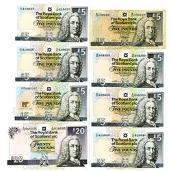 Royal Bank of Scotland plc, Group of 8 Issued Banknotes, 1999-2012