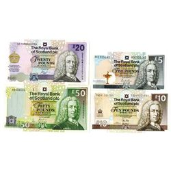 Royal Bank of Scotland PLC Group of Issued Banknotes, 2000-2014