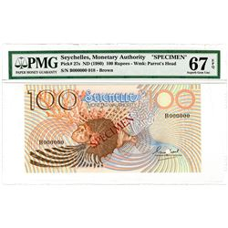 Seychelles Monetary Authority. ND (1980) Specimen Banknote.