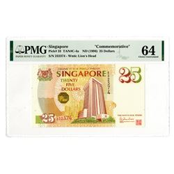 """Singapore """"Commemorative"""", ND (1966) Issued Banknote."""