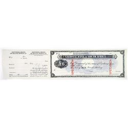 National Bank of South Africa 1900 Specimen Circulating Sola of Exchange