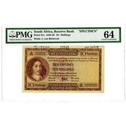 South African Reserve Bank. 1948-1959. Specimen Banknote.