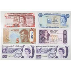 Government of St. Helena, Government of Gibraltar, Bermuda Government, South Africa Reserve Bank, an