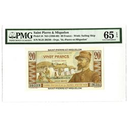 St. Pierre & Miquelon Issued Banknote