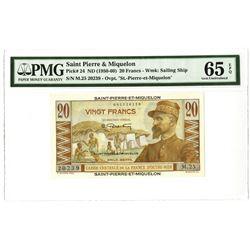 St. Pierre & Miquelon Issued Banknote