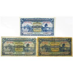 Government of Trinidad and Tobago, 1939-1942 Trio of Issued Notes
