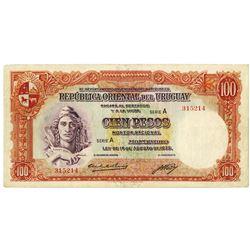 Republica Oriental del Uruguay. L.1935. Issued Note.