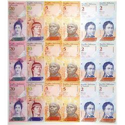 Republica De Venezuela, 2009-2017 Banknote Assortment.