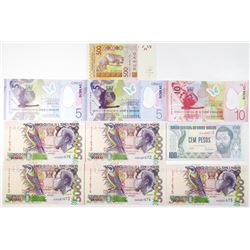 West African Countries Lot of 10 Issued Banknotes, 1990-2012