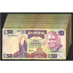 Bank of Zambia, ND (1991) Issue, Pack of 100 Banknotes