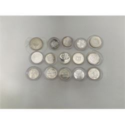 Bank of Israel, 1958 to 1980 Group of 15 Commemorative Silver Coins