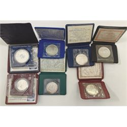 Bank of Israel, 1974 to 1982 Group of 7 Commemorative Silver Coins