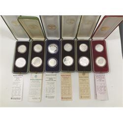 Bank of Israel, 1983 to 1985 Group of 12 Commemorative Silver Coins