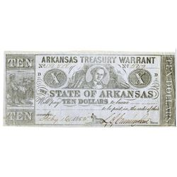 Arkansas. State of Arkansas, 1865, Obsolete Banknote