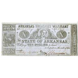 Arkansas. State of Arkansas, 1865, Obsolete Banknote