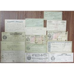 Group of Arkansas Treasurer Warrants and Checks, ca. 1866 to 1939 Assortment.